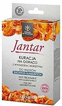 Perfumería y cosmética Set de tratamiento para cabello seco y quebradizo - Farmona Jantar Hot Treatment For Dry And Brittle Hair (mascarilla capilar/17ml + champú/15ml + acondicionador/5ml + gorra)