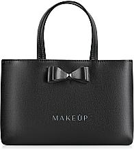 Perfumería y cosmética Bolso con lazo, negro (24x15,5cm) - MakeUp Black Elegance