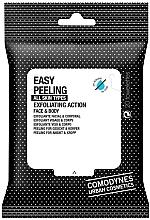 Perfumería y cosmética Toallitas húmedas exfoliantes para rostro y cuerpo, 20uds. - Comodynes Easy Peeling Exfoliating Action Face and Body