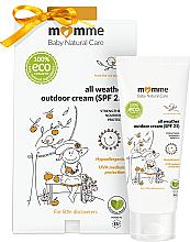Perfumería y cosmética Crema corporal protectora e hipoalergénica con manteca de karité y glicerina - Momme Baby Natural Care All Weather Outdoor Cream SPF25