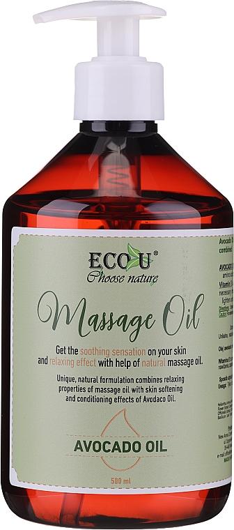 Aceite de masaje con aguacate - Eco U Avocado Massage Oil