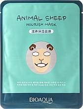 Perfumería y cosmética Mascarilla facial de tejido con ácido hialurónico y extracto de jengibre - Bioaqua Animal Sheep Nourish Mask