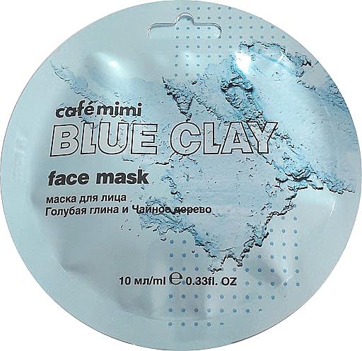 Mascarilla facial con arcilla azul & árbol de té - Cafe Mimi Blue Clay Face Mask