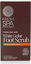 Perfumería y cosmética Exfoliante para pies con pino tritulado y presado - Natura Siberica Fresh Spa Russkaja Bania Detox White Cedar Foot Scrub