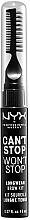 Perfumería y cosmética Kit para cejas de larga duración (aplicador, peine y cepillo) - NYX Professional Makeup Can't Stop Won't Stop Longwear Brow Kit