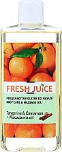 Perfumería y cosmética Aceite de masaje con macadamia y extracto de mandarina & canela - Fresh Juice Energy Tangerine&Cinnamon+Macadamia Oil