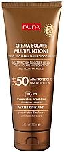 Perfumería y cosmética Crema de protección solar para rostro, labios, cuerpo y cabello con activador de melanina, SPF 50 - Pupa Multifunction Sunscreen Cream