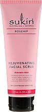 Perfumería y cosmética Exfoliante facial con semillas de rosa mosqueta - Sukin Rejuvenating Facial Scrub
