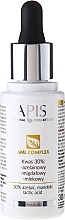 Perfumería y cosmética Complejo exfoliante facial con 30% de ácido aceláico, mandélico & láctico - APIS Professional AML Complex KWAS 30%