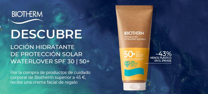 Por la compra de productos de cuidado corporal de Biotherm superior a 45 €, recibe una crema facial de regalo