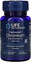 Perfumería y cosmética Complemento alimenticio en cápsulas cromo optimizado con crominex 3+, 500 mcg - Life Extension Chromium