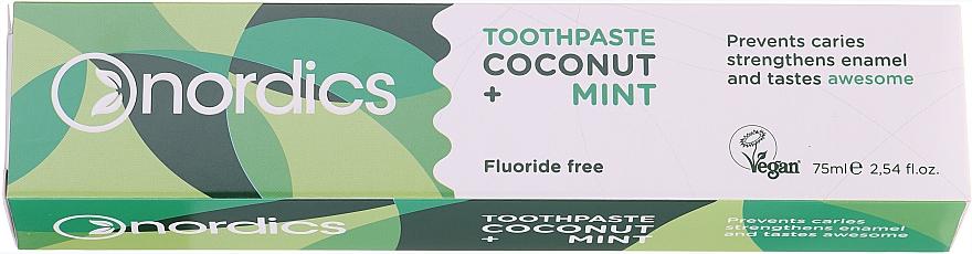 Pasta dental con aceites de coco y menta - Nordics Coconut + Mint Toothpaste