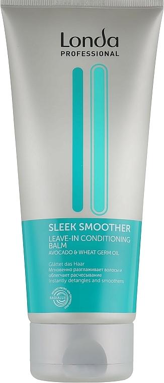 Acondicionador hidratante con aceite de aguacate, sin aclarado - Londa Sleek Smoother — imagen N1