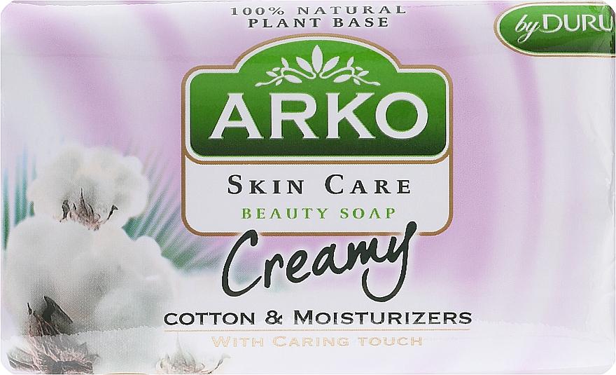 Jabón con extracto de algodón - Arko Beauty Soap Creamy Cotton & Cream — imagen N1