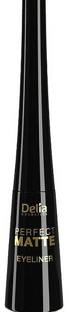 Delineador de ojos líquido mate - Delia Cosmetics Perfect Matte Eyeliner