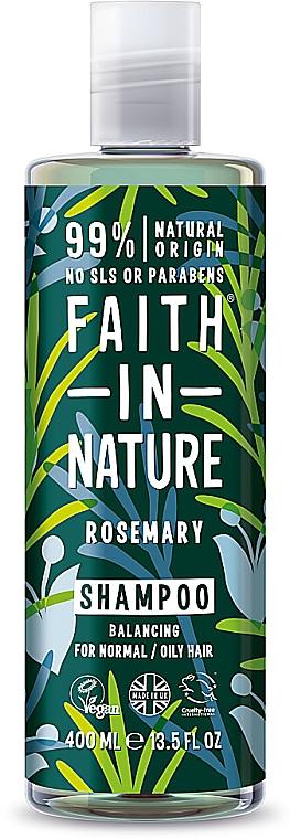 Champú natural vegano de romero, sin parabenos ni sulfatos - Faith In Nature Rosemary Shampoo