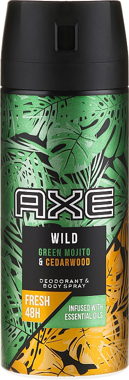 Desodorante antitranspirante - Axe Wild Green Mojito & Cedarwood