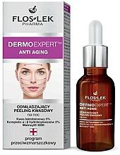 Perfumería y cosmética Tratamiento antiedad de noche con ácido lactobiónico - Floslek Dermo Expert Anti Aging Peeling