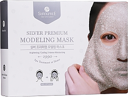 Perfumería y cosmética Shangpree Silver Premium Modeling Mask - Mascarilla facial peel off iluminadora (gel/5x50g + powder/5x4,5g)