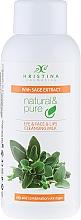 Perfumería y cosmética Leche facial desmaquillante con extracto de salvia - Hristina Cosmetics Cleansing Milk With Sage Extract