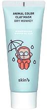 Perfumería y cosmética Mascarilla facial con arcilla, ácido hialurónico y colágeno - Skin79 Animal Color Clay Mask Dry Monkey