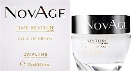 Perfumería y cosmética Tratamiento suavizante de arrugas para ojos y labios con extracto de eufrasia - Oriflame NovAge Time Restore Eye & Lip Cream