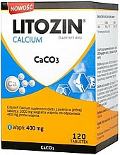 Perfumería y cosmética Complemento alimenticio de Calcio, en cápsulas 400mg - Orkla Litozin Calcium