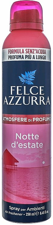 Ambientador en spray con aroma a rosa y jazmín - Felce Azzurra Notte D'estate Spray