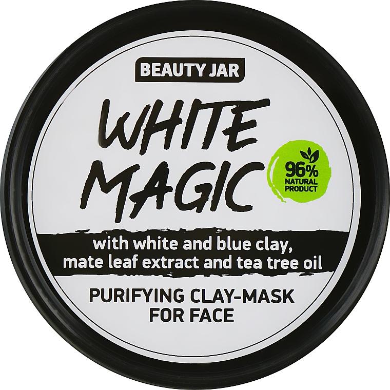 Mascarilla facial con arcilla blanca y azul - Beauty Jar White Magic