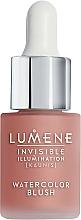 Perfumería y cosmética Colorete líquido con extracto de semilla de mora - Lumene Invisible Illumination Watercolor Blush