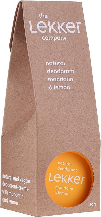 Desodorante crema natural con aceite de mandarina y lomón - The Lekker Company Natural Deodorant Mandarin & Lemon