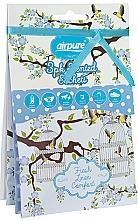 Perfumería y cosmética Saquito perfumado con aroma fresco, 3uds. - Airpure Vintage Collection Scented Sachet Fresh Linen Comfort