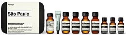 Perfumería y cosmética Aesop Sao Paulo Travel Essentials Kit - Set de viaje(champú/50ml+ acondicionador/50ml+ gel de ducha/50ml+ bálsamo/50ml+ enjuague bucal /50ml+ pasta dental/10ml+ toner/15ml + sérum/15ml)