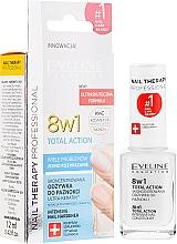 Perfumería y cosmética Bálsamo activador de crecimiento de uñas, 8en1 - Eveline Cosmetics Nail Therapy Total Action 8 in 1