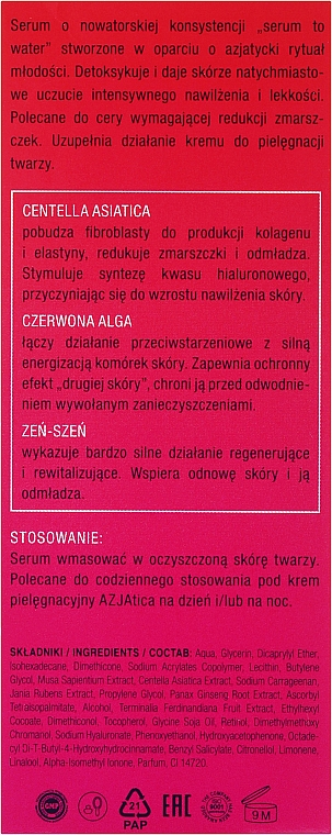 Sérum facial con extractos de centella asiática & ciruela kakadu - Perfecta Azjatica Day & Night Serum — imagen N5