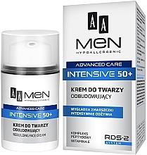 Perfumería y cosmética Crema facial reconstructora con complejo peptídico y vitamina E - AA Men Advanced Care Intensive 50+ Face Cream Rebuilding