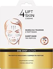 Perfumería y cosmética Mascarilla facial de tejido con tripéptidos - Lift4Skin Sheet-Mask Copper Tri-Peptide
