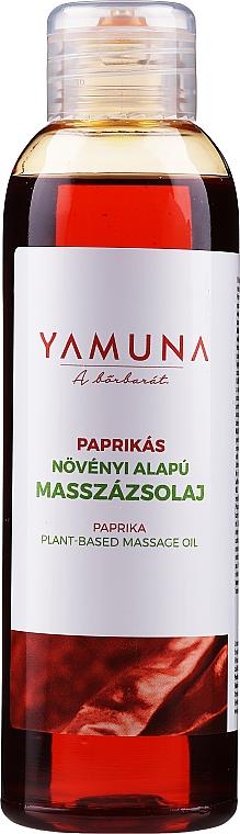 Aceite de masaje anticelulitis natural con extracto de pimiento - Yamuna Paprika Plant Based Massage Oil