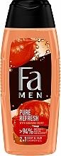 Perfumería y cosmética Gel de ducha para cuerpo y cabello, aroma a guaraná - Fa Men Pure Refresh With Guarana Scent