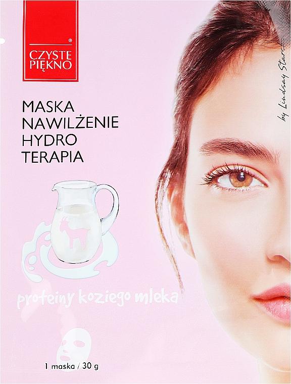 Mascarilla facial de tejido con ácido hialurónico y extracto de leche de cabra - Czyste Piekno Hydro Therapia Face Mask