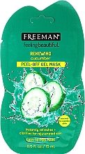 Perfumería y cosmética Mascarilla facial exfoliante con pepino - Freeman Feeling Beautiful Facial Peel-Off Mask Cucumber (mini)