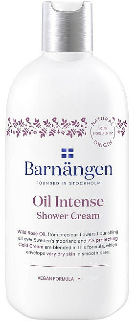 Crema de ducha con aceite de rosa silvestre - Barnangen Oil Intense Shower Cream