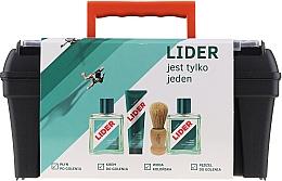 Perfumería y cosmética Lider Classic - Set de afeitado (loción aftershave/100ml+ crema de afeitado/65g+ agua de colonia/100ml+ brocha de afeitar+ maletín)