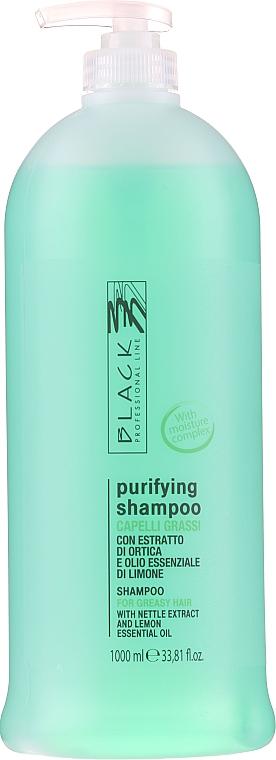 Champú purificante con extracto de ortiga y aceite de limón - Black Professional Line Sebum-Balancing Shampoo