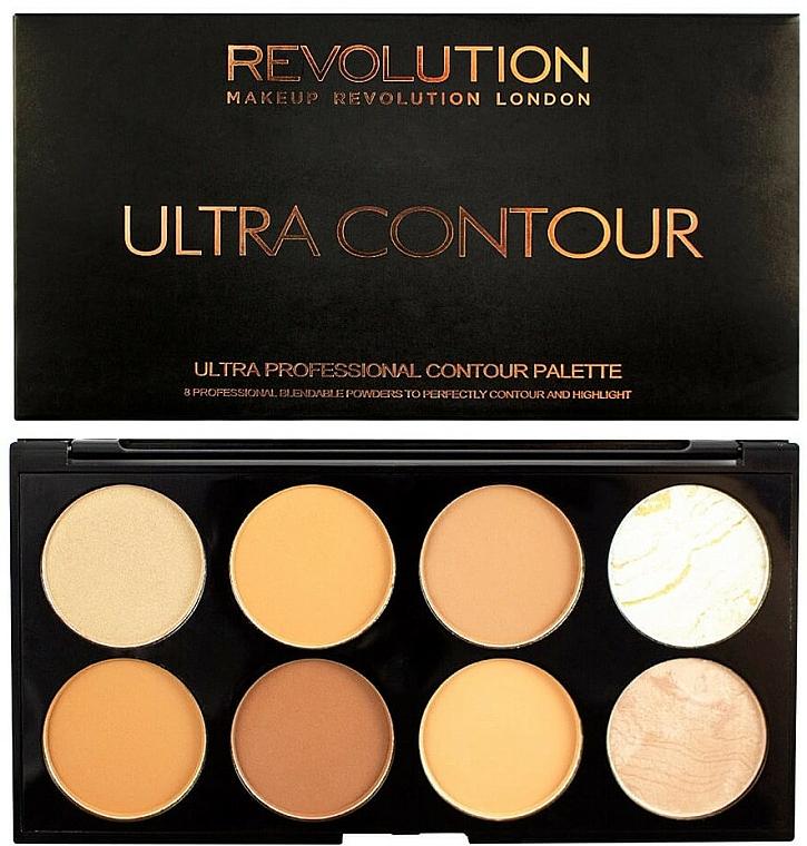 Paleta para contorno facial - Makeup Revolution Ultra Contour Palette Medium-Dark — imagen N1