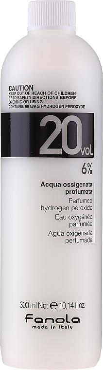 Emulsión oxidante profesional 20vol. 6% - Fanola Acqua Ossigenata Perfumed Hydrogen Peroxide Hair Oxidant 20vol 6%
