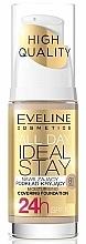 Perfumería y cosmética Base de maquillaje cremosa hidratante de larga duración, efecto semimate SPF 10 - Eveline Cosmetics All Day Ideal Stay Foundation