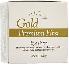 Perfumería y cosmética Parches para contorno de ojos con extractos de aloe vera, té verde y granada - Secret Key Gold Premium First Eye Patch