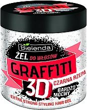 Perfumería y cosmética Gel de fijación extra fuerte con extracto de rábano negro - Bielenda GRAFFITI 3D Extra Strong Stayling Hair Gel