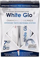 Perfumería y cosmética Set de limpieza dental blanqueadoraa - White Glo Diamond Series Set (pasta/100ml + gel/50ml)